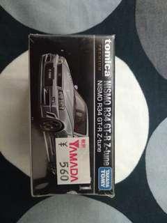 Tomica Premium No.01 Nismo R34 GT-R Z-tune Grey