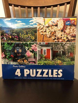 4 photo gallery puzzle  x 1000 pcs total 4000 pcs