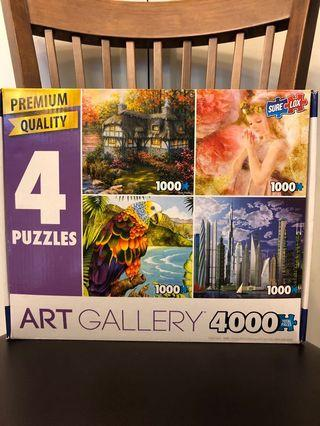 Art gallery puzzle 4000 total pieces
