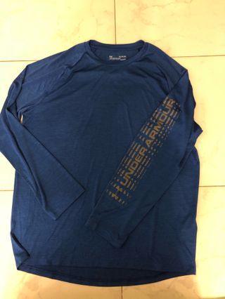 Under Armour long sleeve blue tee 長袖T恤 XL