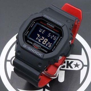 Casio G-Shock DW-5600-HR Digital Watch (DW5600HR DW5600HR-1DR DW-5600 DW-5600HR DW5600)