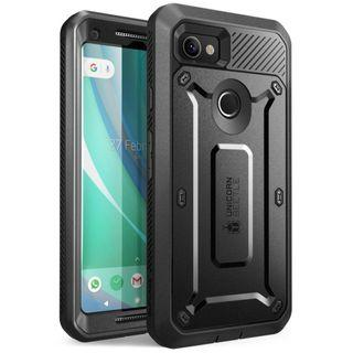 (F193) SUPCASE Google Pixel 2 XL Case, Full-body Rugged Holster Case with Built-in Screen Protector for Google Pixel 2 XL 2017 Release, Unicorn Beetle PRO Series