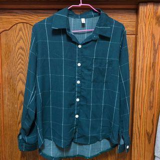 🚚 綠格子襯衫