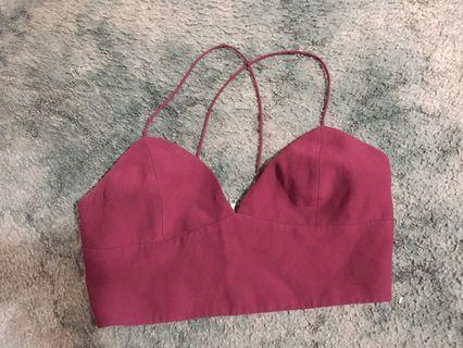 Bardot 12 zip back thin strap top