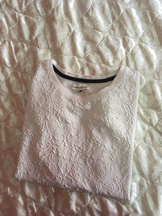 white padini top
