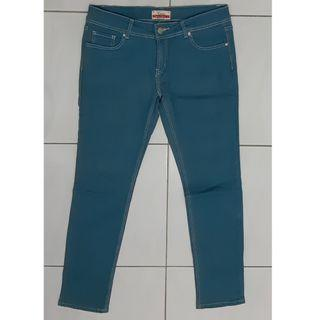 Women jeans in turquoise
