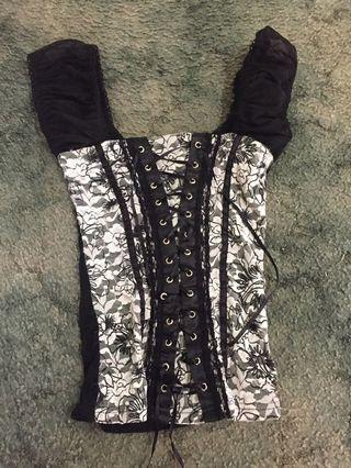Caroline Morgan s corset look top