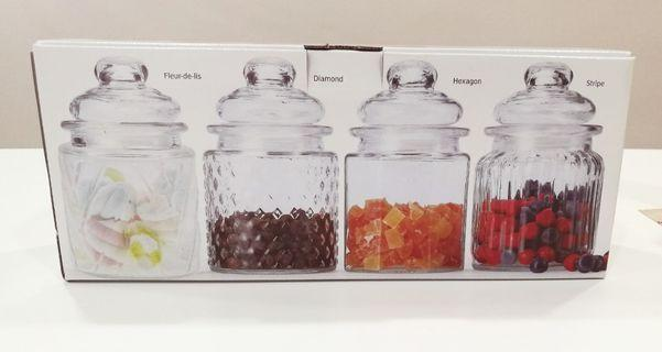 #RayaHome Mini Glass Canister (4 PCS)