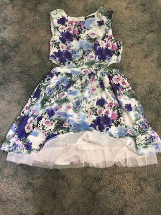 Luvalot 12 flower mid cut out dress with petticoat