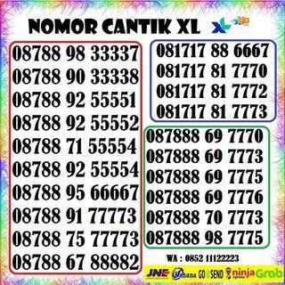 Nomor Cantik XL,Nomer Cantik XL 4g