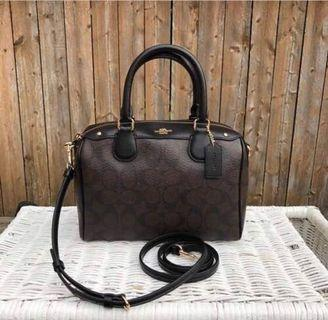 (Preorder) Coach Mini Bennet Satchel in Crossgrain Leather