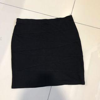 2 for rm10-Nichii Black Mini Skirt