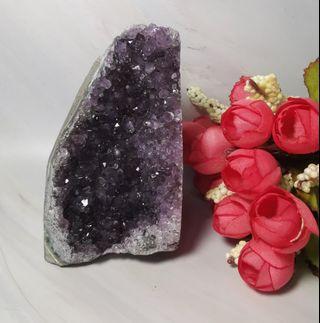 迷你天然烏拉圭紫晶簇消磁招財原礦