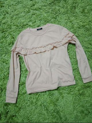 Soda cotton ruffles blouse