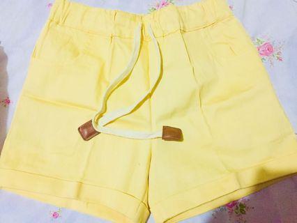 Bizaare Yellow Shorts
