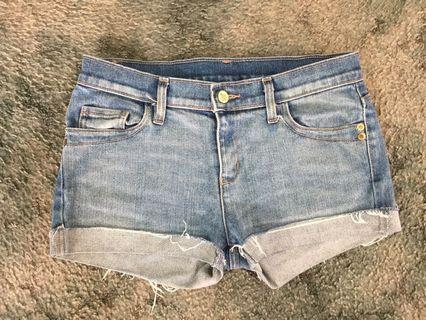 Stussy 10 denim shorts with crown on bum