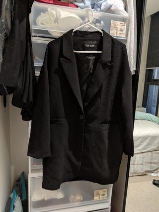 Black blazer jacket - suitable for size 10-12