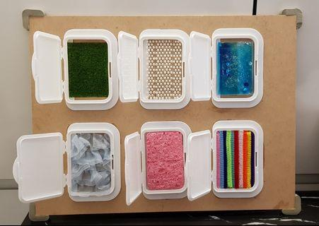 DIY ; Sensory Board ; Textures; Peek-a-boo Educational toy ; Learning Resources