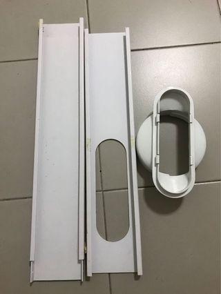 Portable aircon window kit and adaptor