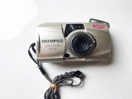 🚚 [送電池稀少機]Olympus mju-III WIDE100 變焦喵3 廣角變焦 底片相機