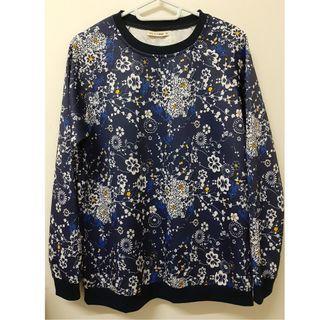 Women tops navy blue floral prints