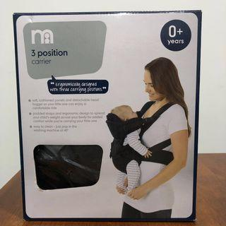 Mothercare 3 Position Baby Carrier - Black