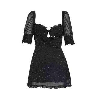 For Love and Lemons Black Polka Dot Dress