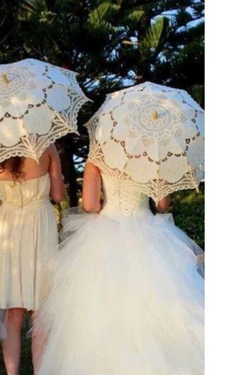 🚚 Lace Umbrella for Pre-Wedding Photo Shooting Used