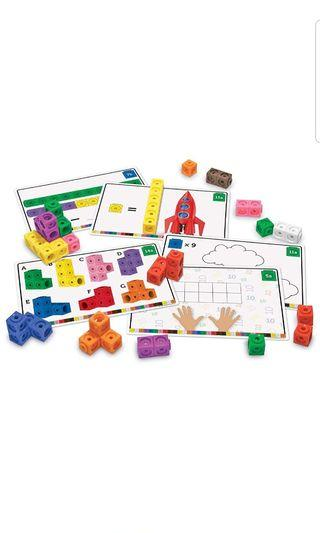 🚚 Learning Resources Early Math Mathlink Cube Activity Set, 115Piece