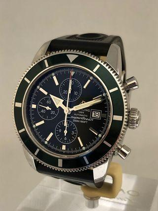🚚 Breitling SuperOcean Heritage Limited Edition Green Bezel **Pre-Owned**