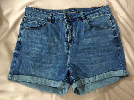 Preloved high waisted denim shorts