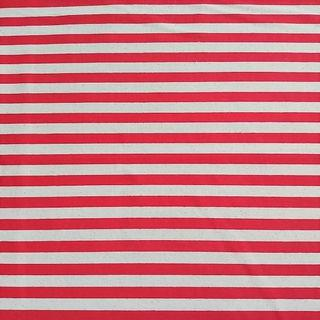 Red Stripes Linen Fabric Cloth for Sewing / Art & Craft Projects