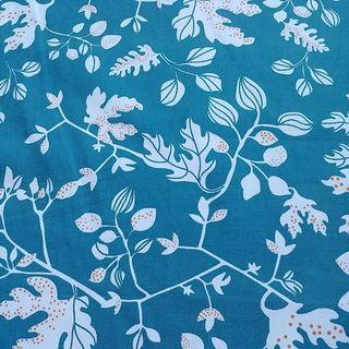 Turquoise Floral Linen Table Cloth Cover
