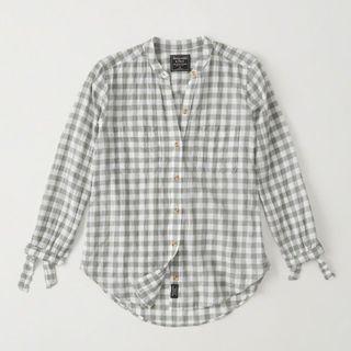Abercrombie tie sleeve shirt