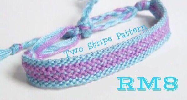 Two Stripe Friendship Bracelet