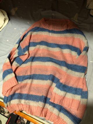 女薄寬鬆毛衣