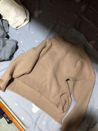 女短款寬鬆毛衣