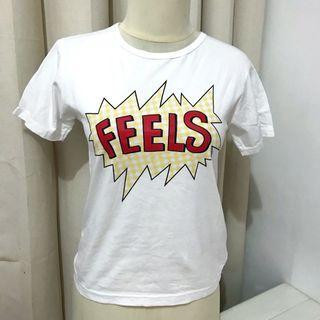 Kaos t-shirt putih white feels