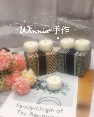 『Winnie°手作』大豆蠟手作淡香香氛蠟燭15g 小茶蠟  室內香氛 鳶尾花 牡丹 白麝香 薰衣草 橙花