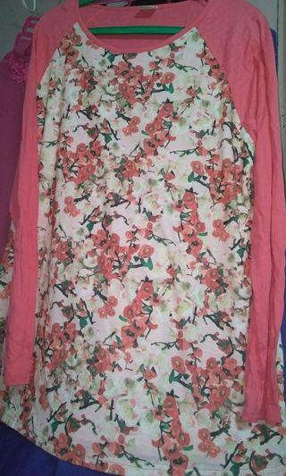 Beautiful plus size South China Sea ladies t-shirt size 10