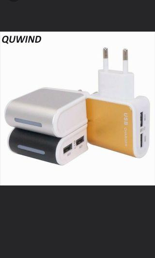 DUAL DESKTOP CHARGER QUICK FAST 2.4A