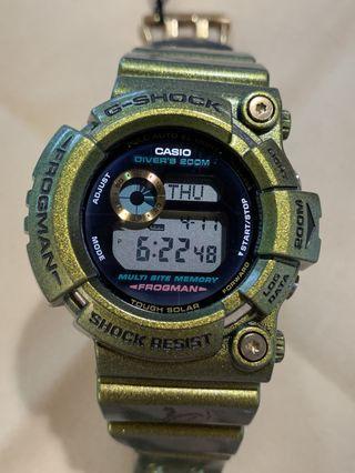 新嘅一樣 特價 中古 二手 G-Shock Frogman GW-200GM-9 GW200 Gold Defender 神獸 白虎 蛙人