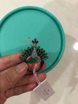 🚚 BNWT Kate Spade peacock ring