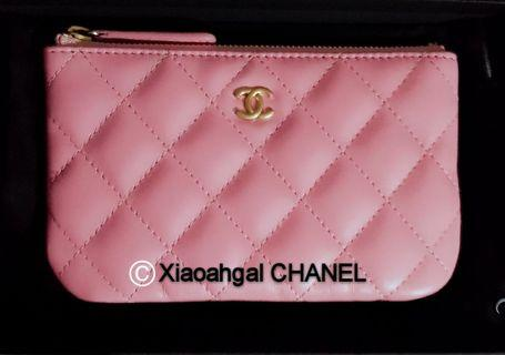 30a0bb8102f7 QYOP •Rare Pink• Chanel 19S Authentic limited Pink Mini o case cards wallet  purse