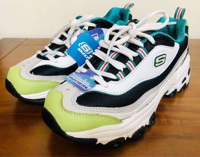 全新保證正貨有發票證明 Skechers 99999873 BKWL 黑白綠 老爹鞋熊貓鞋運動慢跑休閒健走尺寸22.5