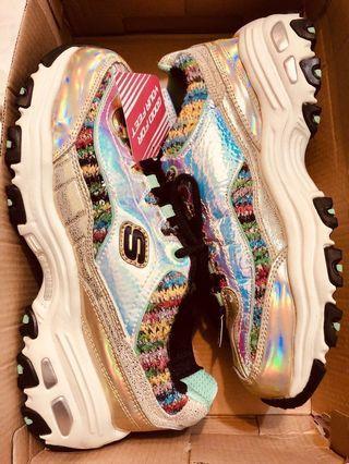 全新保證正貨有發票證明 Skechers12231 GDMT 金x繽紛色 老爹鞋熊貓鞋 運動休閒慢跑健走 尺寸24