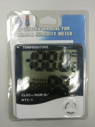 全新 家用溫度濕度計 附鬧鐘功能