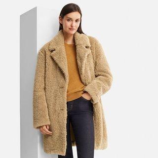 Uniqlo Piled Faux Fur Fleece Long Coat.