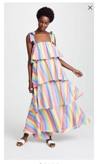 MDS stripes rainbow dress us 4