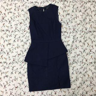 MGP label office dress navy blue